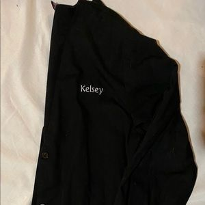 """Cherokee Scrub Jacket with """"Kelsey"""" Embroidered"""